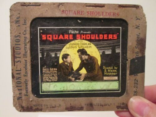 Squarre Shoulders  - Original 1929  Movie Glass Slide - Wolheim
