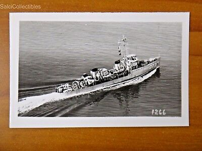 Official  Us Navy Ship Minesweeper Photograph 3 5X5 5 Am 373 Uss Peregrine