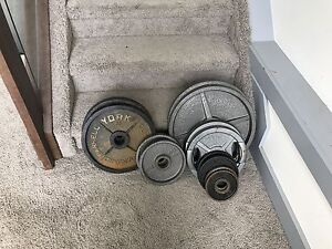 245 lbs Olympic Steel Weight, set