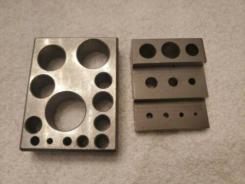1-2-3 Precision Blocks - multi-size 13 Hole & Step Block 10 Hole - Machinist Jig