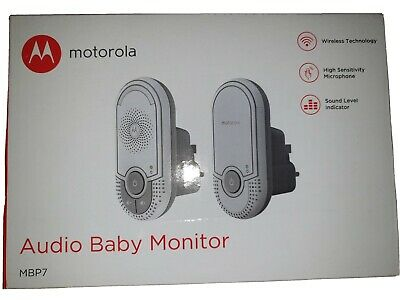 Motorola MBP7 Audio Baby Monitor with Wall Plug Baby and Parent Unit