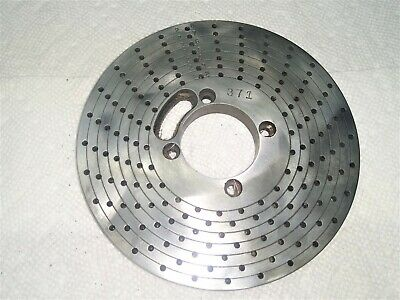 Double Sided Index Plate For Dividing Head  1-12 Center Hole 5-14 Od