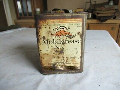Vintage Gargoyle Mobilgrease Can 5 lb Size Rare Style Only 1 on eBay Lot20-95-25