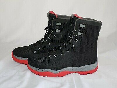 Nike Air Jordan Future Boots Shoes Black Gym Red Cool Grey SZ 9.5 -