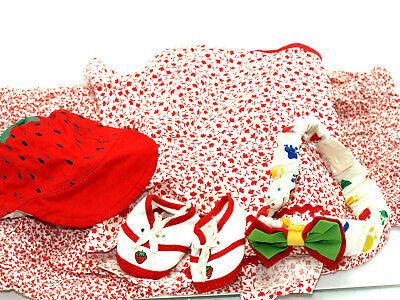 Puppenkleidung für Baby Born Puppen Hose Erdbeer Outfit - Baby Erdbeer Outfit