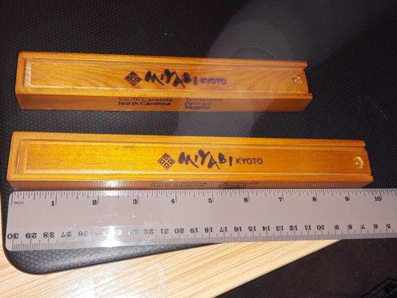 2 different size EMPTY Miyabi/ Kyoto Chopstick  WOODEN BOX ONLY