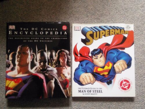 The DC Comics Encyclopedia & Superman Ultimate Guide - Hardcover - New, Like New