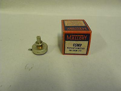 Nos Vintage Mallory C5mp Potentiometer 5m Ohms A4
