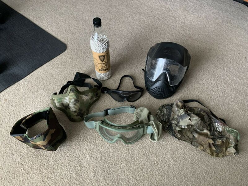 Airsoft Gear to wear for protection : mainly goggles and face masks / mesh mask