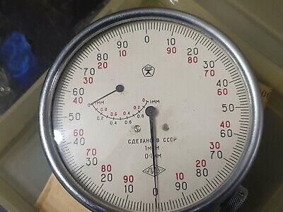 Dial Indicator Precision 1mig 0-1mm 0.001mm Ussr Meuhr Messuhr