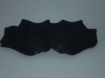 no show,solid black, baby socks for 0-12 months, 6 pairs