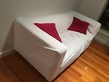 Ikea white bench three seater sofa St Albans Brimbank Area Preview
