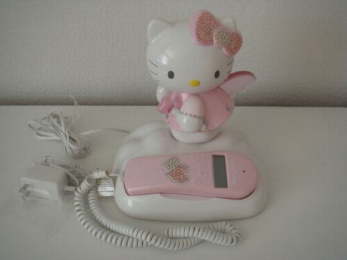 Hello Kitty Telepho Phone Landline ANGEL with Caller ID Light Up Wings