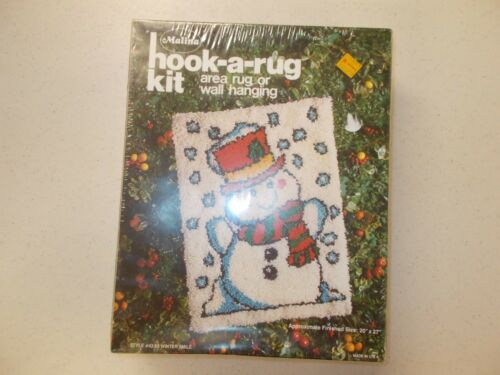 Vintage Malina Hook-A-Rug Kit Area Rug or Wall Hanging WINTER SMILE #43/02