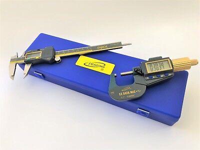 Digital Electronic Micrometer 0-10.00005 And Caliper 0-60.0005 Ip54 Set