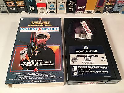 * Instant Justice Betamax NOT VHS 1986 Action Beta Michael Pare Tawny Kitaen 80s