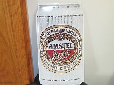 VTG 1990's AMSTSEL LIGHT METAL SIGN 18 x 9 MAN CAVE BAR DECOR BEER CAN HEINEKEN , used for sale  Shipping to Canada