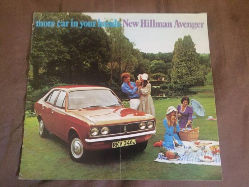 1971 Rootes Hillman Avenger Color  Brochure Catalog Prospekt