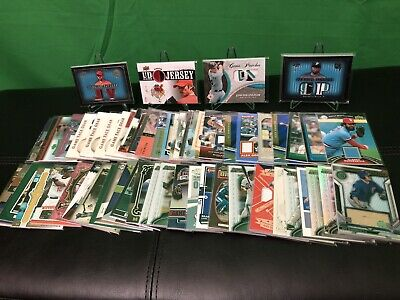 (60) Huge Baseball Jersey Patch Bat Lot - Many #'d - All Cards in Pictures