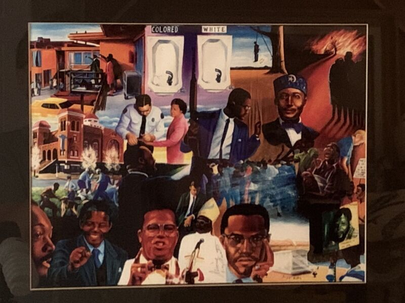 "Jerome Austin Framed Art Print ""The Struggle"" Black History Civil Rights"