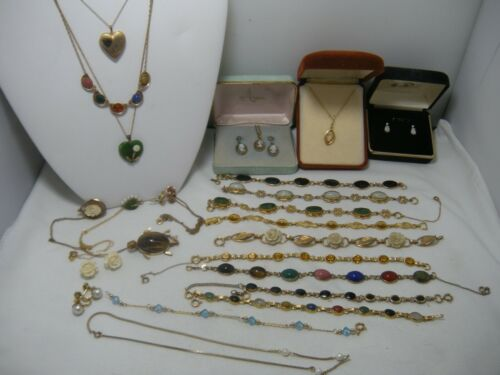 Vintage GOLD FILLED Lot JEWELRY  bracelets necklaces earrings not scrap 119 g