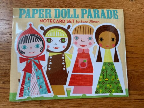 Paper Doll Parade Notecard Invitation Thank You Note Set by Suzy Ultman