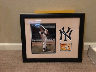 Bill Moose Skowron Signed 8X10 Framed Autograph Yankees w/COA Mounted Memories