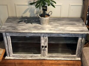 Shabby Chic refinished Tv Entertainment Stand