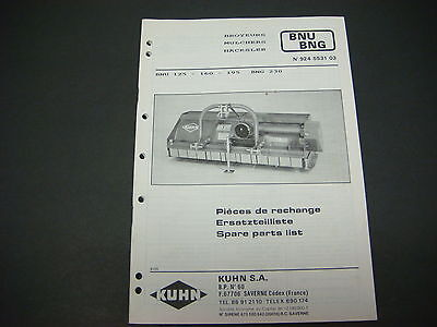 (Kuhn Manual Mulchers BNU BNG Spare Parts List No.924 5531 03)
