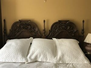Queen wooden headboard