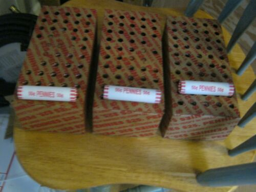 3 SEALED BOXES OF 150 UNSEARCHED ROLLS  FROM ARMORY--3 ROLLS 2020 -P PENNY+GIFT