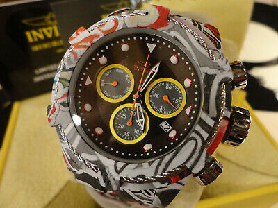 Invicta 31622 52mm Bolt Zeus Graffiti Chronograph Hydroplated Bracelet Watch NEW