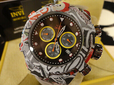 Invicta 31622 52mm Bolt Zeus Graffiti Chronograph Hydroplated Bracelet Watch NEW