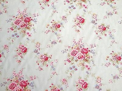 Cath Kidston, Washed Roses, 100% Cotton Duck Fabric By The Metre