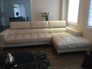 White L shaped couch for sale $400 OBO