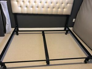 King size bed frame and tufted headboard