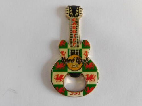 Hard Rock Cafe CARDIFF - Wales Dragon - Gibson Guitar Magnet Bottle Opener