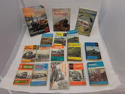 16 x Ian Allan ABC BRITISH RAILWAYS Handbooks inc. LOCOMOTIVES, SHED + EXPRESS