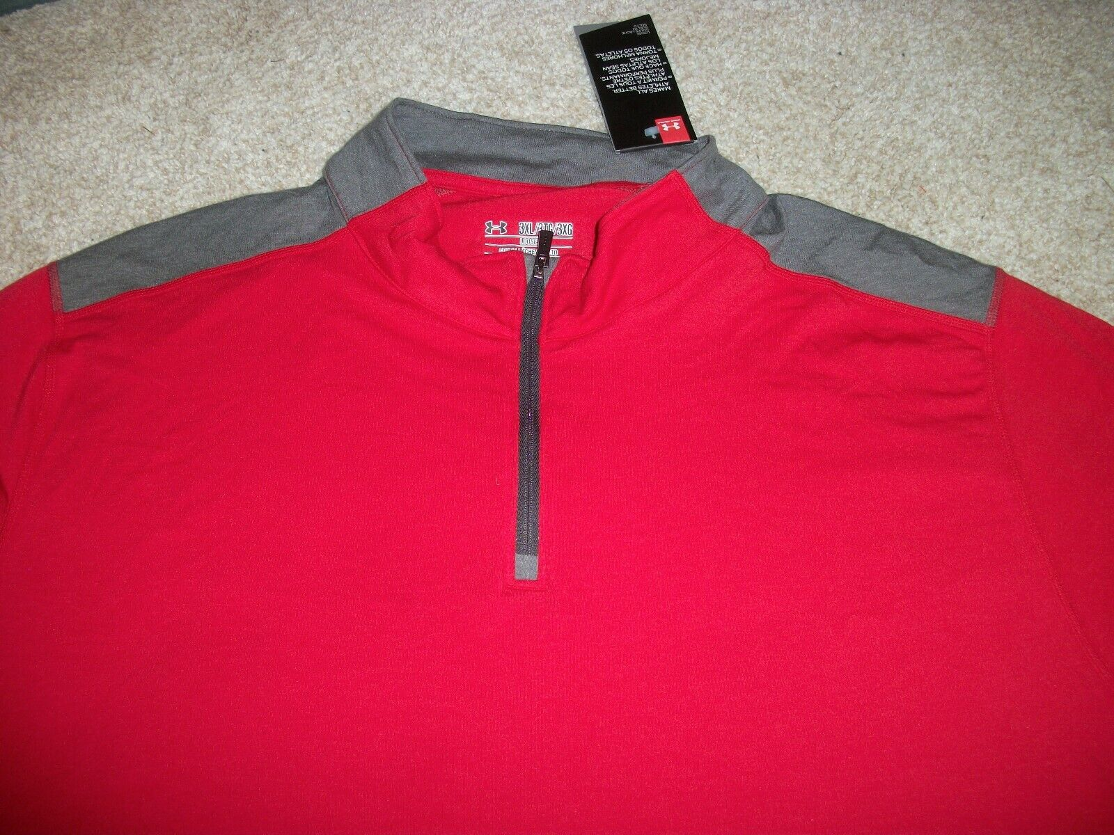 UNDER ARMOUR New NWT Mens 3XL XXXL Jacket Coat 1/4 Zip Heat