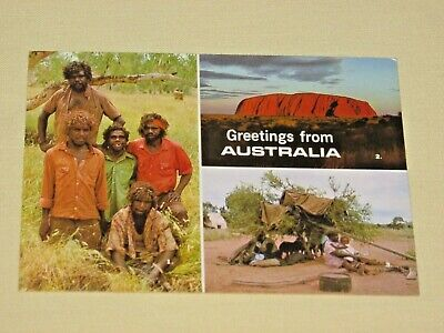ABORIGINES ~AUSTRALIA~Vintage Postcard~Werner Bartel Photography~Unposted~FreeSH
