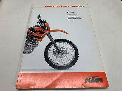 Betriebsanleitung Gebrauchsanweisung Anleitung KTM 625 SXC 2004