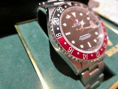 VINTAGE ROLEX GMT MASTER II COKE 16710 L SERIAL BOX 1989
