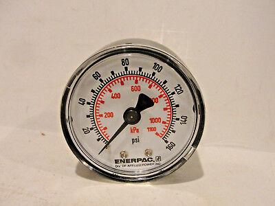 Enerpac Pressure Gauge Dual 0-160 Psi 200-1100 Kpa Back Center Mount