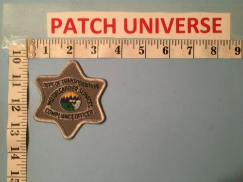 MONTANA MOTOR CARRIER SERVICES COMPLIANCE  OFFICER PATCH  L082
