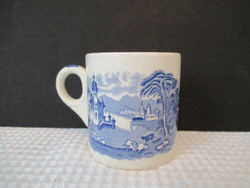 MALING ENGLAND NEWCASTLE ON TYNE BLUE 12oz MUG PREOWNED