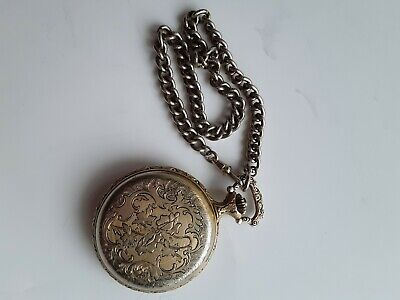 Vintage Andre Rivalle pocket watch with chain-for parts