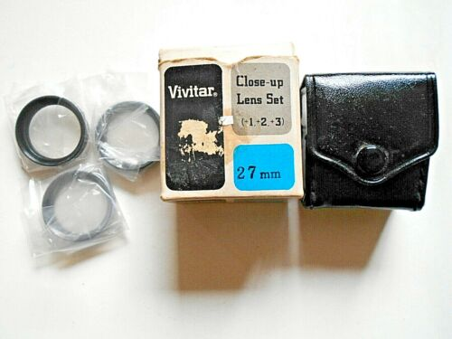 Vivitar 27mm Close-up Lens Set (+1,+2,+3)