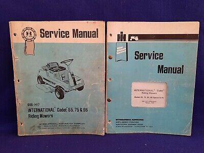 2x Ih International Harvester Cadet 55 75 85 95 Riding Mower Service Manual Orig