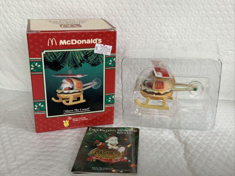 "Enesco Treasury Of Christmas Ornaments McDonald's ""above the crowd"" Vintage 1995"