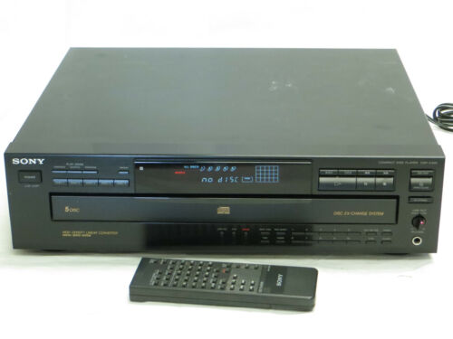 Sony Compact Disc Player CDP-C435 5-Disc Carousel Changer w/ Remote